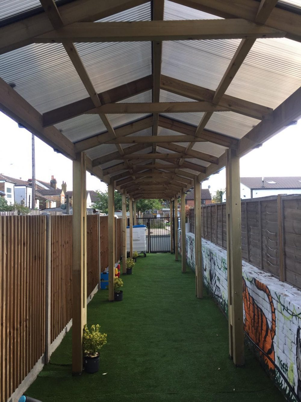 Wooden Walkways Amp Entrance Canopies Bespoke Outdoor Places